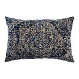 Tempo Home Kyra Textured Blue Oblong Throw Pillow