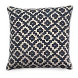 Tempo Home Jasmine Textured Blue Throw Pillow