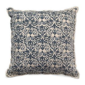 Tempo Home Leena Textured Blue Throw Pillow