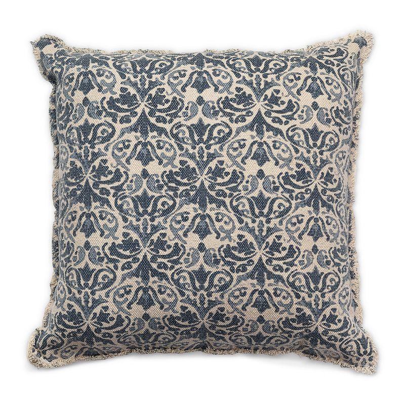 Tempo Home Leena Textured Blue Throw Pillow, 20X20
