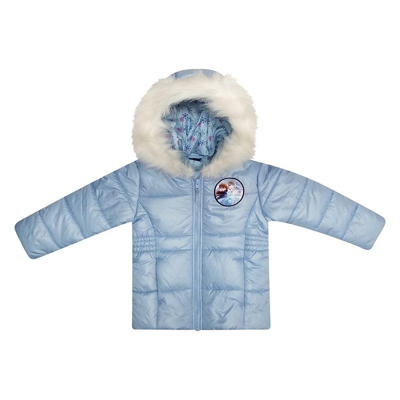 Disney's Frozen 2 Elsa & Anna Toddler Girl Puffer Jacket by Dreamwave, Toddler Girl's, Size: 3T, Blue