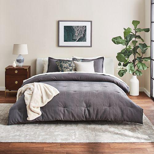 Scott Living Luxe Deco Fan Comforter and Sham Set