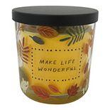 "SONOMA Goods for Life® ""Make Life Wonderful"" Caramel Toffee Candle Jar"