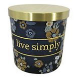 """SONOMA Goods for Life® """"Live Simply"""" Caramel Toffee Candle Jar"""