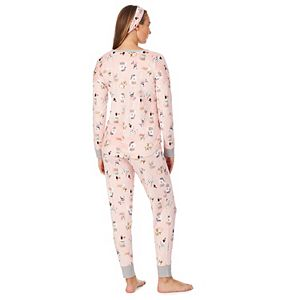 Women's & Petite Cuddl Duds® Fleece Pajama Top, Pajama Pants & Headband Set