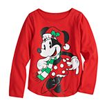 Disney's Minnie Mouse Girls 4-6x Christmas Graphic Tee by Family Fun?