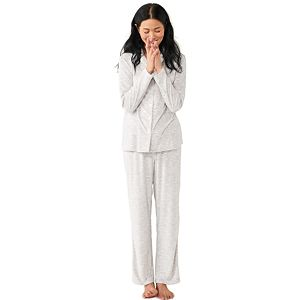 Women's Croft & Barrow® Velour Pajama Shirt & Pajama Pants Set