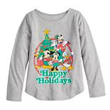 "Disney's Mickey & Minnie Mouse Girls 4-6x ""Happy Holidays"" Graphic Tee by Family Fun?"