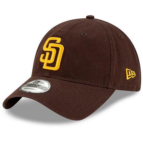 Men's New Era Brown San Diego Padres Game Replica Core Classic 9TWENTY Adjustable Hat