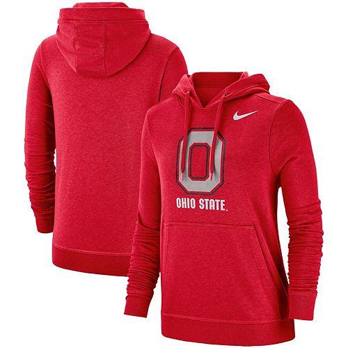 Women's Nike Scarlet Ohio State Buckeyes Team Club Pullover Hoodie