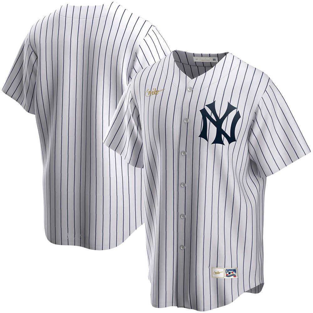 Men's Nike White New York Yankees Home Cooperstown Collection Team Jersey