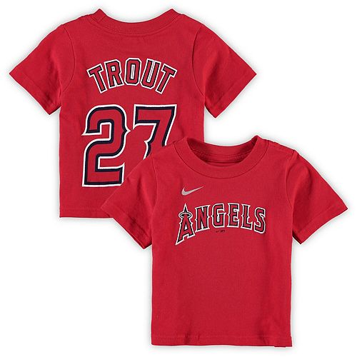 Infant Nike Mike Trout Red Los Angeles Angels Player Name & Number T-Shirt