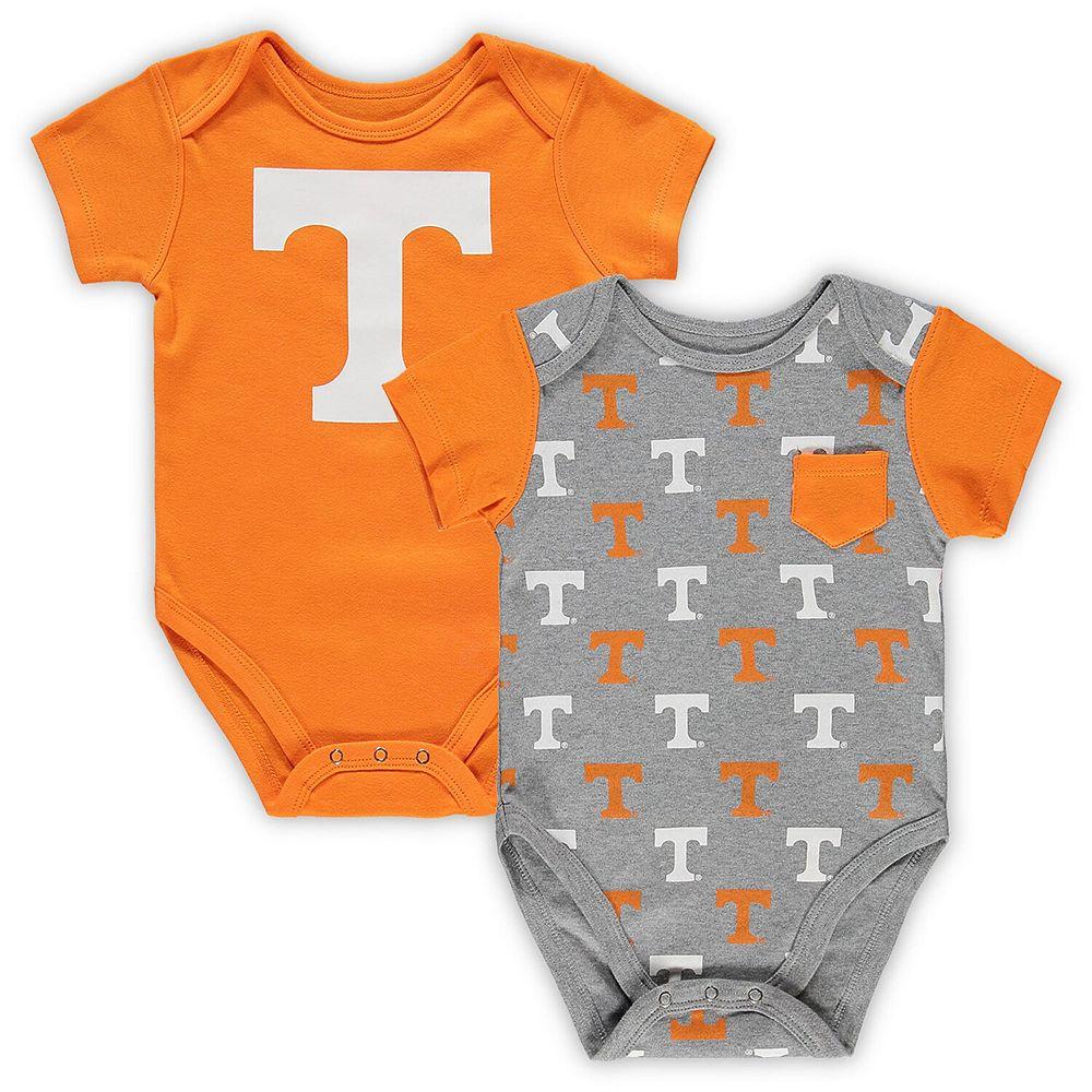 Infant Tennessee Orange/Gray Tennessee Volunteers 2-Pack Little Kicker Bodysuit Set
