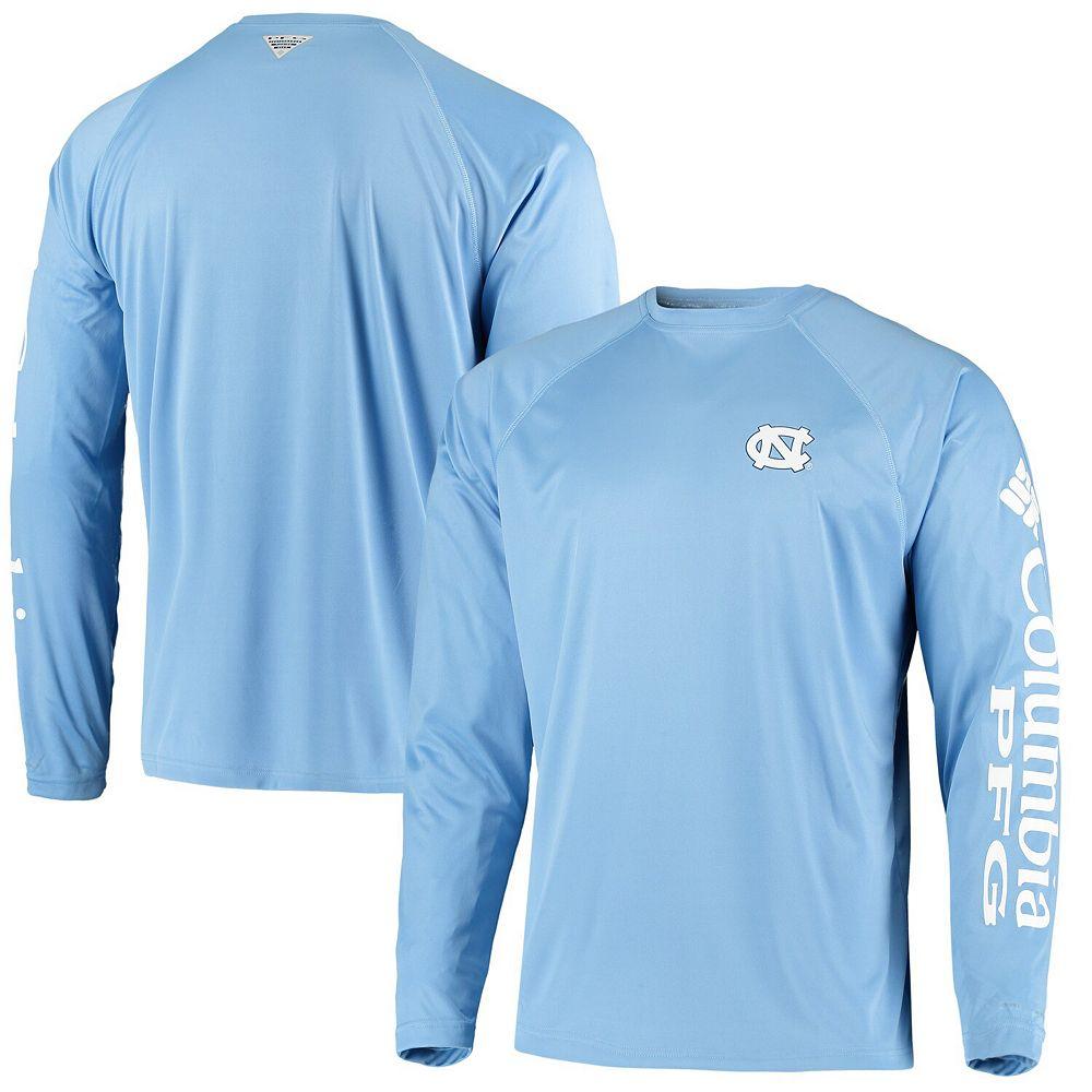 Men's Columbia PFG Carolina Blue North Carolina Tar Heels Terminal Tackle Omni-Shade Long Sleeve T-Shirt