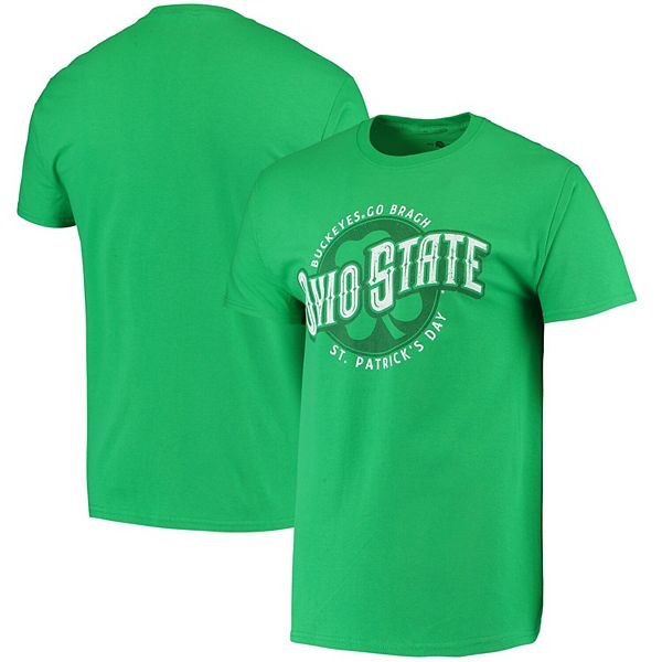 Men's Green Ohio State Buckeyes St. Patrick's Day T-Shirt