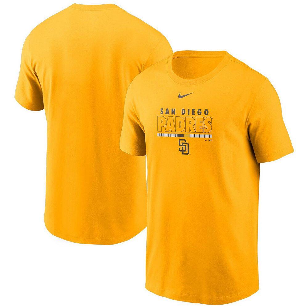 Men's Nike Gold San Diego Padres Color Bar T-Shirt