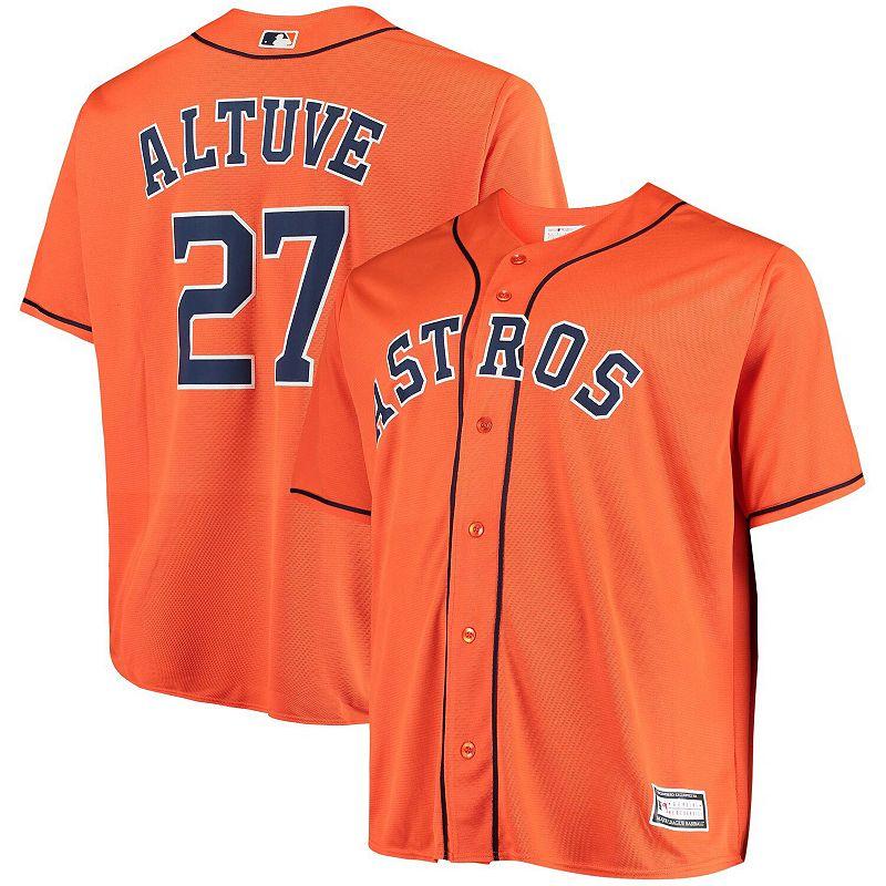 Men's Jose Altuve Orange Houston Astros Big & Tall Replica Player Jersey, Size: 6XB