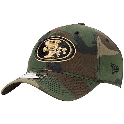 Men's New Era Camo San Francisco 49ers Tonal Woodland 9TWENTY Adjustable Hat