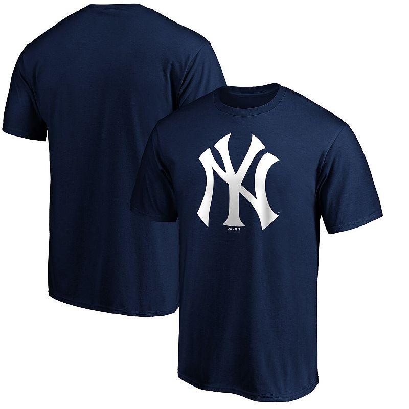 Men's Fanatics Branded Navy New York Yankees Official Logo T-Shirt, Size: 3XL, Blue