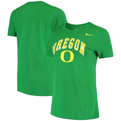 Women's Nike Green Oregon Ducks Arch Performance T-Shirt