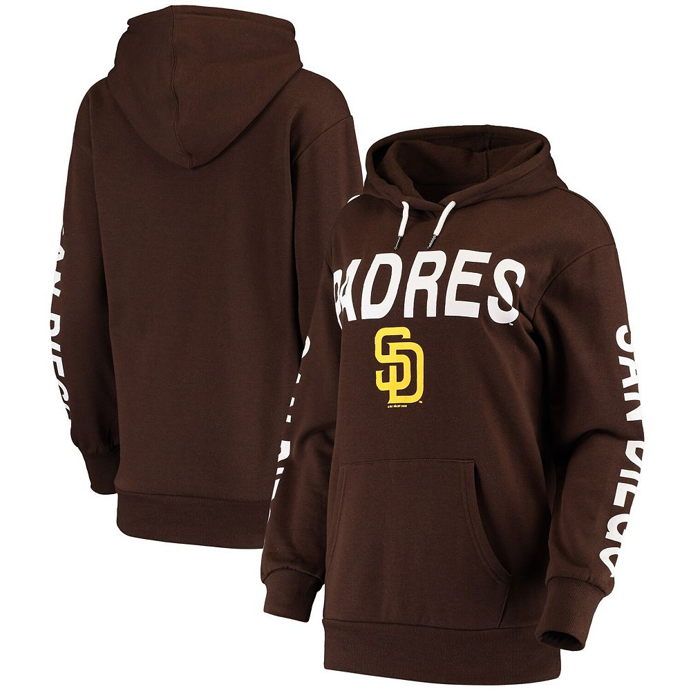 Women's G-III 4Her by Carl Banks Brown San Diego Padres Extra Inning Colorblock Pullover Hoodie