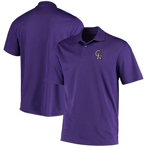 Men's Levelwear Purple Colorado Rockies Omaha One-Hit Polo