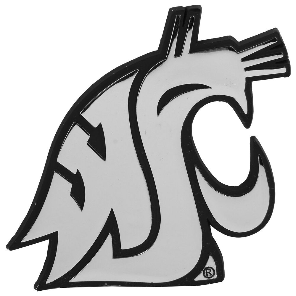 Washington State Cougars Premium Metal Auto Emblem
