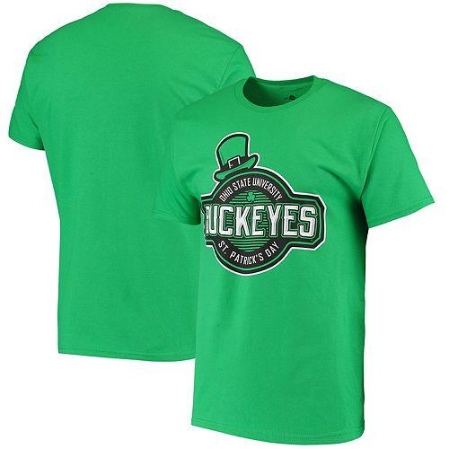 Men's Kelly Green Ohio State Buckeyes St. Patrick's Day T-Shirt