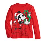 Disney's Mickey Mouse Boys 8-20 Christmas Graphic Tee by Family Fun?