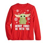 """Boys 8-20 Family Fun? Star Wars """"Merry Force"""" Graphic Tee"""