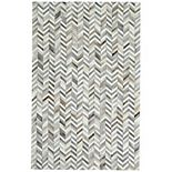 Weave & Wander Zenna Gray Leather Area Rug