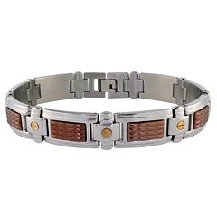 LYNX Stainless Steel Two-Tone Link Bracelet