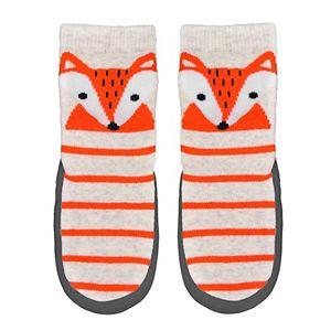 Baby/Toddler Boy Jumping Beans® Fox Striped Slipper Socks