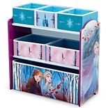 Disney's Frozen 2 Design and Store 6-Bin Toy Organizer by Delta Children