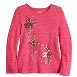 Girls 4-12 Sonoma Goods For Life® Sequin Plush Knit Top