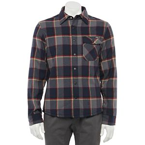 Men's Caliville Sherpa-Lined Button-Down Flannel Shirt
