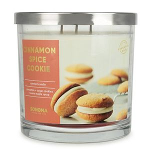 Sonoma Goods For Life 14-oz. Cinnamon Spice Cookie Candle Jar