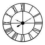 Patton Black Metal Roman Numeral Wall Clock