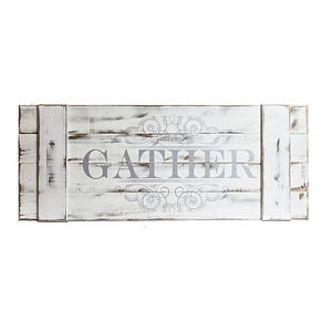 Patton Distressed White Gather Wood Plank Wall Art