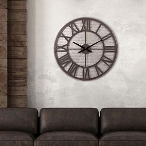 Patton Rustic Galvanized Metal Cut-Out Wall Clock