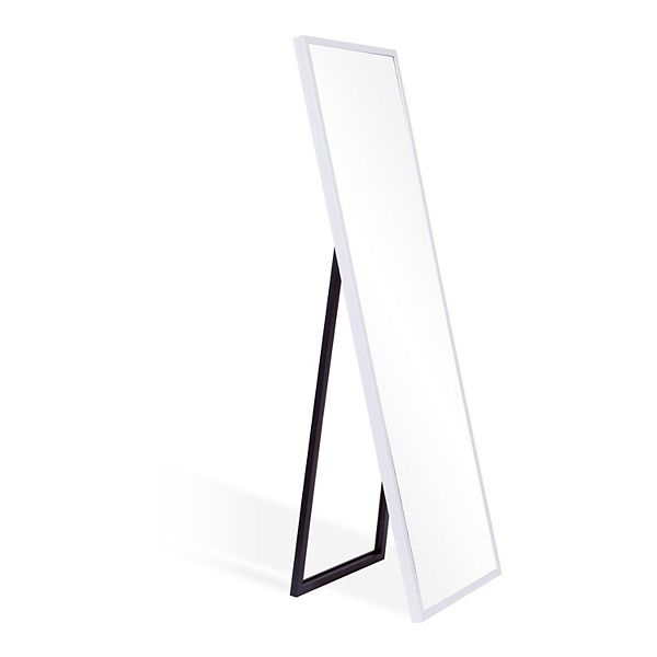 Floor Mirror With Adjustable Easel, White Floor Mirror With Easel