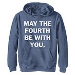 Boys 8-20 Star Wars May The Fourth Be With You Bold Vintage Poster Pullover Graphic Hoodie