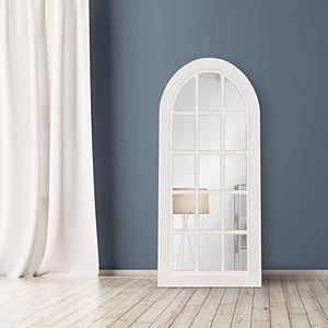 Patton Farmhouse Arch Windowpane Wall Mirror