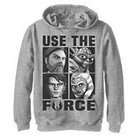 Boys 8-20 Star Wars: Clone Wars Use The Force Character Box Up Pullover Graphic Hoodie
