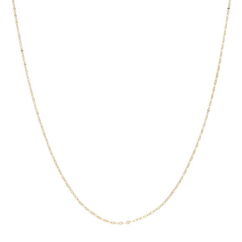 "LC Lauren Conrad 14k Gold Chain Necklace, Women's, Size: 18"""