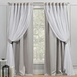 Exclusive Home 2-pack Catarina Layered Solid Blackout Window Curtains