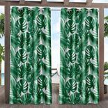 Exclusive Home 2-pack Jamaica Palm Indoor/Outdoor Light Filtering Grommet Top Window Curtains