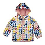 Toddler Girl Carter's Heart Print Puffer Jacket