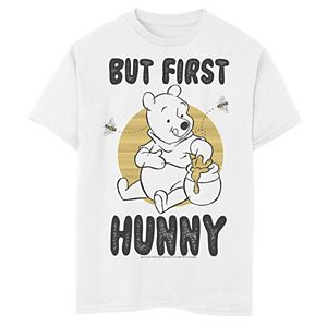 Disney's Winnie the Pooh Boys 8-20 But First Hunny, Honey Graphic Tee