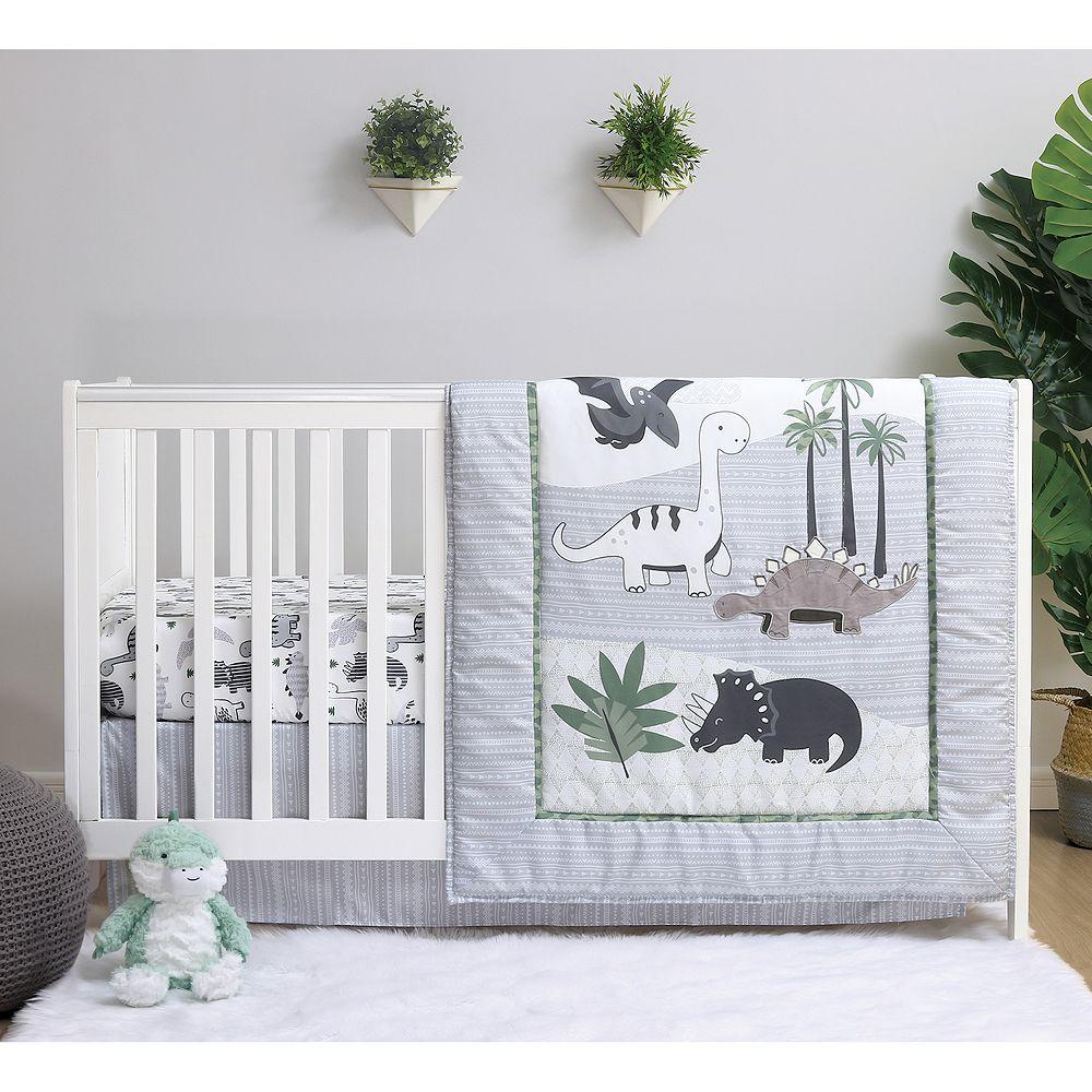 Belle Dino 4 Piece Crib Bedding Set